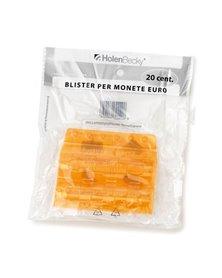 Blister 20 Portamonete in PVC 20cent arancio