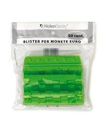 Blister 20 Portamonete in PVC 50cent verde