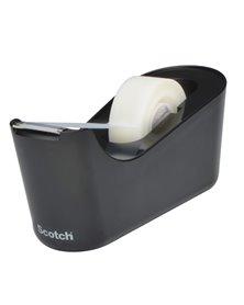 Dispenser da Tavolo C18 Nero + 1 rotolo di nastro adesivo Scotch® Magic™ 19x33