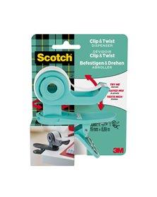 Dispenser per nastro adesivo CT grigio1 rotolo incluso 19x9,8mt Scotch®Magic™