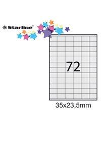 Etichetta adesiva bianca 100fg A4 35x23,5mm (72et/fg) STARLINE