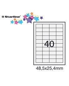 Etichetta adesiva bianca 100fg A4 48,5x25,4mm (40et/fg) STARLINE