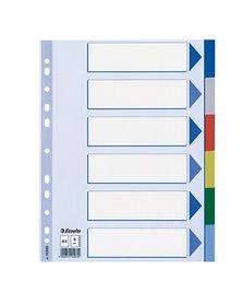 Separatore neutro in PPL 6 tasti colorati f.to A4 ESSELTE
