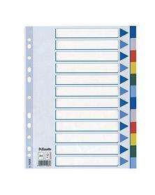 Separatore neutro in PPL 12 tasti colorati f.to A4 ESSELTE