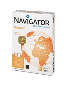 CARTA NAVIGATOR organizer 2 Fori A4 80gr 500FG 210X297mm