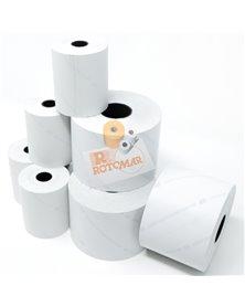 "Blister 10 rotoli bilancia carta termica BPA free ""NVCSF"" 62,5mm x 30mt Ø50mm"