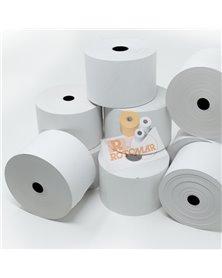 Rotolo carta termica BPA free 70gr neutra 57mmx85mt Ø87mm distrib. self service