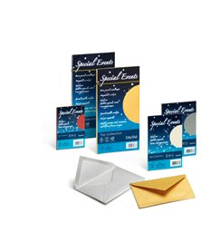 10 buste SPECIAL EVENTS METAL 120gr 110x220mm crema FAVINI