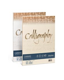 Carta CALLIGRAPHY CANVAS 100gr A4 50fg avorio 02 FAVINI