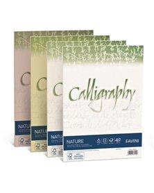 Carta CALLIGRAPHY NATURE A4 50fg 120gr oliva FAVINI