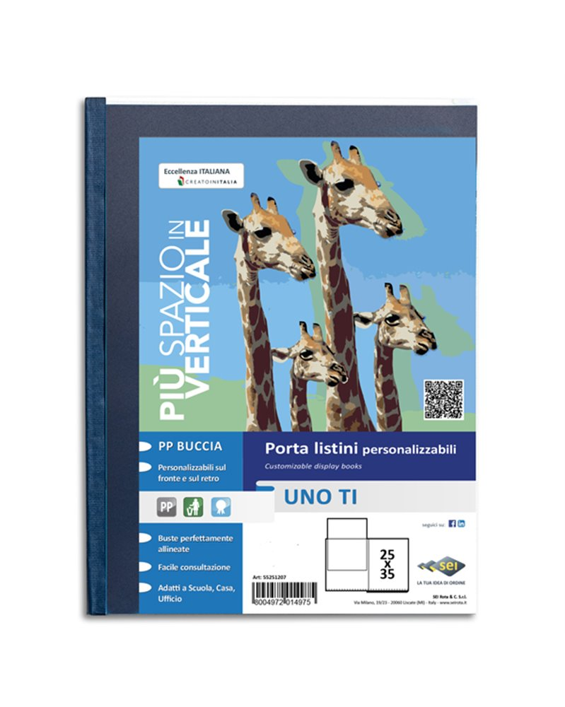 Portalistini personalizzabile UnoTI 25x35cm 24 buste Sei Rota