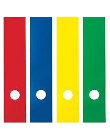 Busta 10 copridorso CDR-P PVC adesivi giallo 7x34,5cm SEI ROTA
