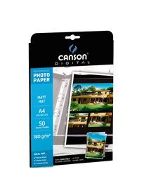 CARTA INKJET A4 180GR 50FG PHOTO MATT PERFORMANCE CANSON