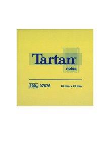 "BLOCCO TARTANâ""¢ 7676 GIALLO 76X76MM 100FG 63GR"