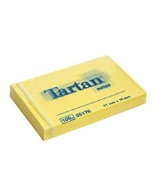 BLOCCO TARTAN (TM) 5176 GIALLO 51X76MM 100FG 63GR