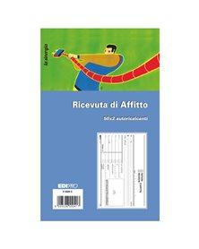 BLOCCO RICEVUTE D'AFFITTO 50/50 FOGLI AUTORIC. 9,9X17 E5504C