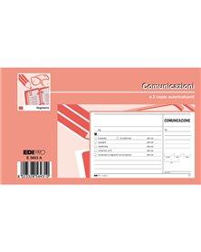 BLOCCO COMUNICAZIONI TELEFONICHE 50/50 FOGLI AUTORIC. 9,9X17 E5693A