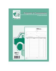 BLOCCO COPIA COMMISSIONI 29,7X21 100FOGLI USO MANO E5236 EDIPRO