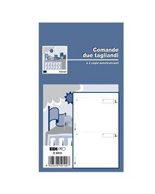 BLOCCO COMANDE A 2 TAGLIANDI 25/25 FOGLI AUTORIC. 17X9,9 E5910