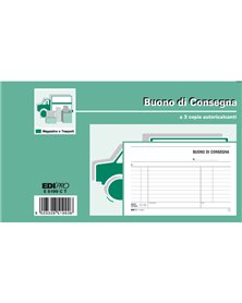 BLOCCO BUONI CONSEGNA 10X17CM 33fg 3 copie AUTORIC. E5199CT