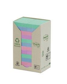 BLOCCO 100foglietti Post-it® Notes Green 38x51mm 653-1GB NATURAL