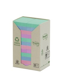 BLOCCO 100foglietti Post-it® Notes Green 38x51mm 653-1GB NATURAL