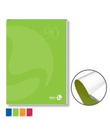 BLOCCO NOTES COLLATO lato corto A4 90gr 80fg bianco copertina 250gr BM