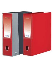 Registratore Unico c/custodia rosso dorso 8cm f.to protocollo Favorit