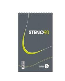 BLOCCO SPIRALATO STENO90 130x225mm 90gr 60fg BM