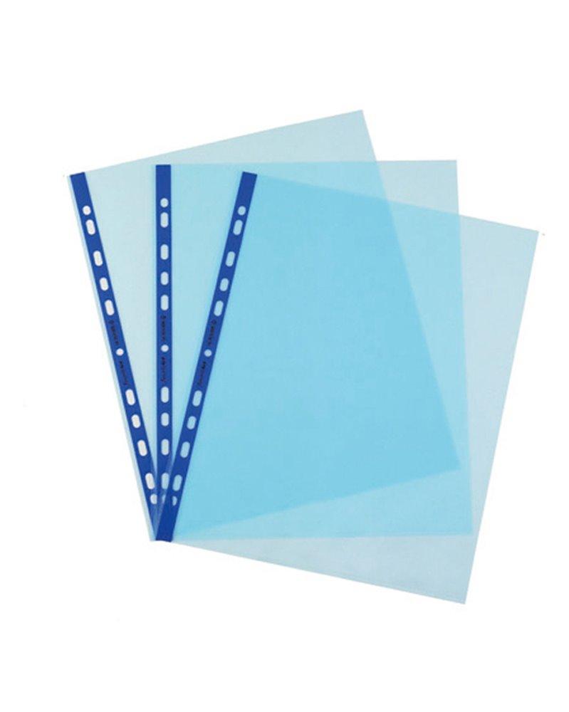 25 Buste forate Pstel 22x30 azzurro liscio Favorit