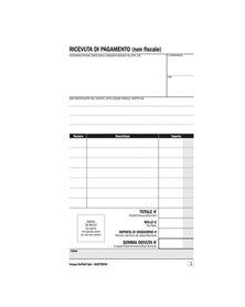 Blocco ricevute BB/affittacamere 25/25 copie autoric. 16257B250 SEMPER