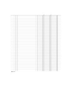 Registro inventari 3 colonne 96pag. numerate 31x24,5cm SED001400 SEMPER