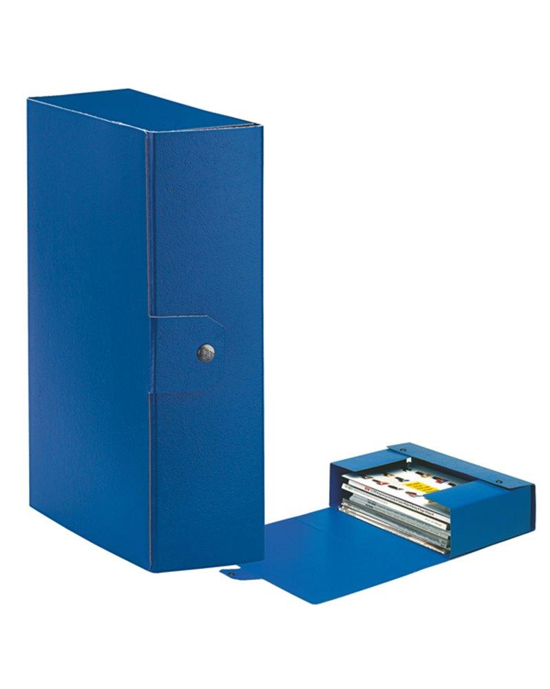 Scatola progetto C30 25x35cm dorso 10 blu ESSELTE