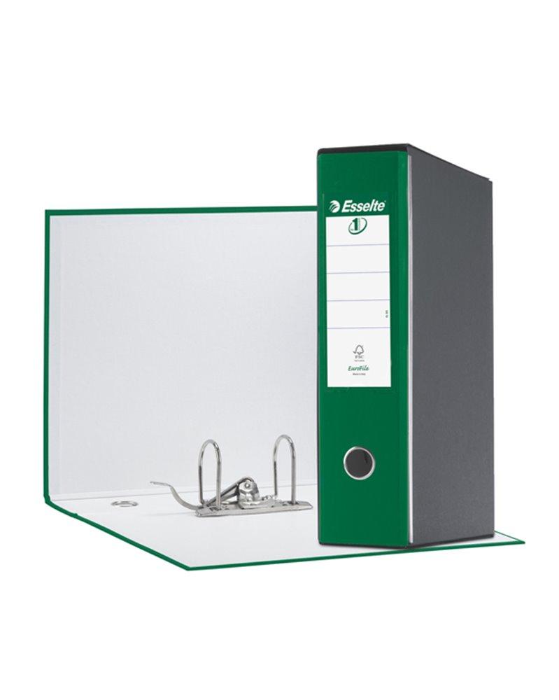 Registratore EUROFILE G55 verde dorso 8cm f.to protocollo ESSELTE