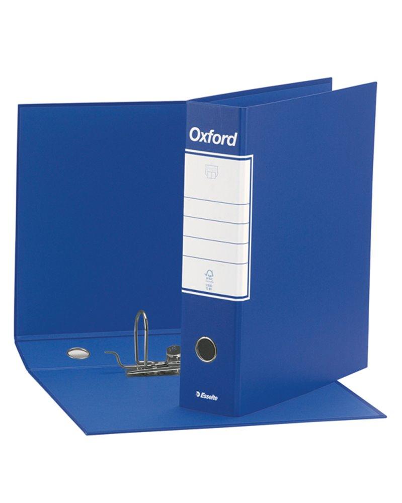 Registratore OXFORD G83 blu dorso 8cm f.to commerciale ESSELTE