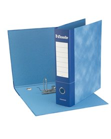 Registratore ESSENTIALS G75 blu dorso 8cm f.to protocollo ESSELTE