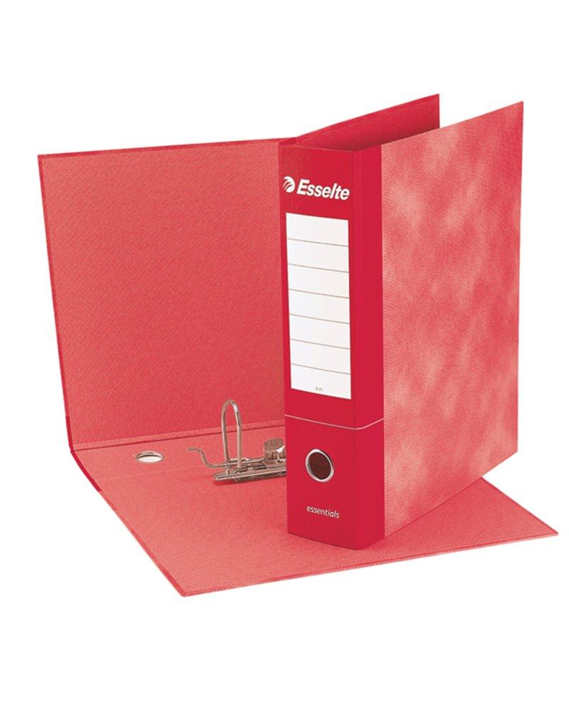 Registratore ESSENTIALS G75 rosso dorso 8cm f.to protocollo ESSELTE