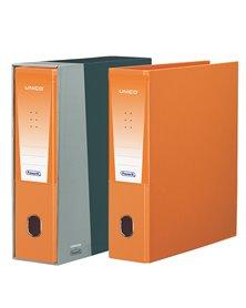 Registratore Unico c/custodia arancio dorso 8cm f.to protocollo Favorit