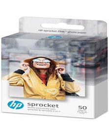 HP ZINK CONFEZIONE DA 50 FOGLI CARTA FOTOGRAFICA ADESIVA RIMOVIBILE 5x7,6cm