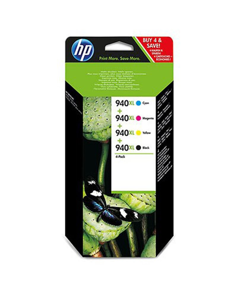 COMBO PACK 4 CARTUCCE INK OFFICEJET HP 940XL -NERO GIANO MAG GIALLO