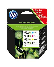 COMBO PACK 4 CARTUCCE INK OFFICEJET HP 932XL -NERO 933XL GIANO MAG GIALLO