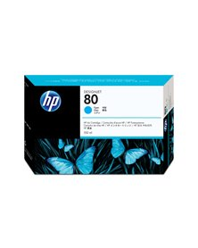 CARTUCCIA A GETTO D'INCHIOSTRO HP N.80 CIANO 350ML