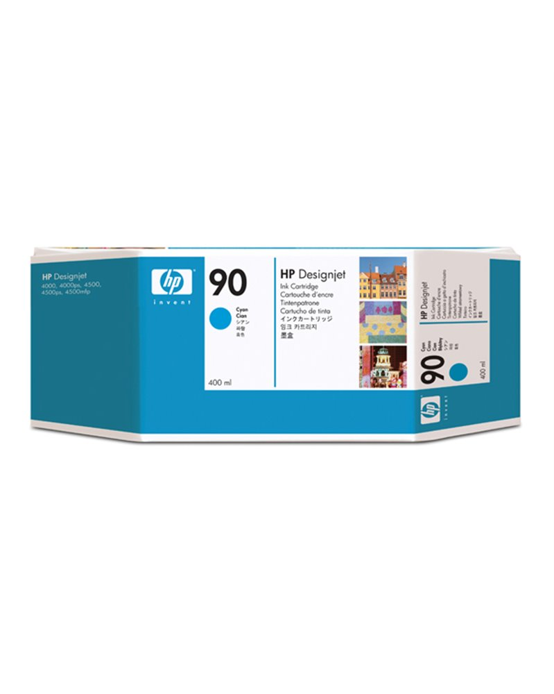 CARTUCCIA A GETTO D'INCHIOSTRO HP N.90 CIANO 400ML