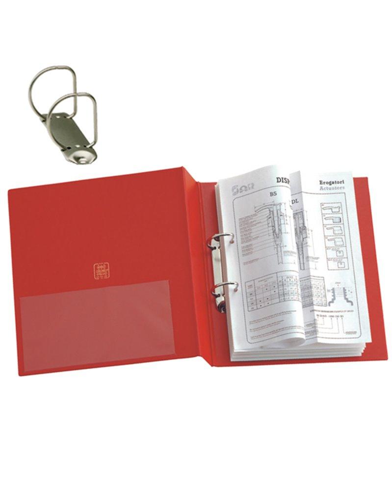 Raccoglitore STELVIO 50 A4 2D rosso 22x30cm SEI ROTA