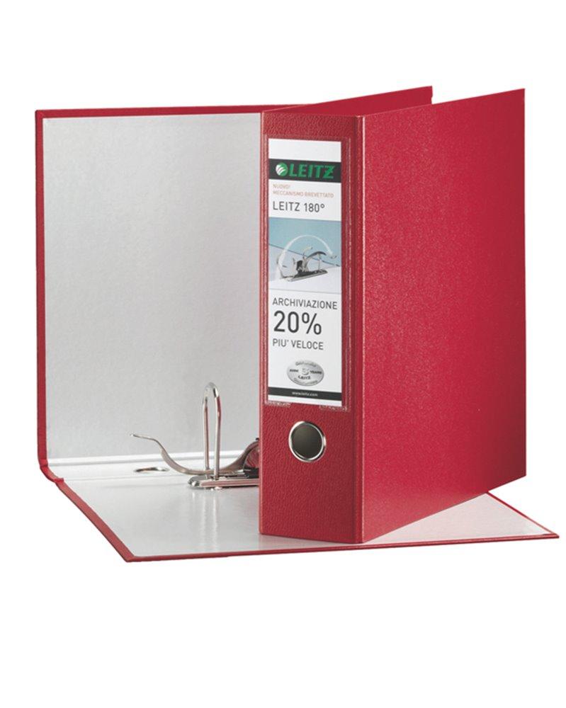 Registratore LEITZ 180° G63 rosso dorso 8cm f.to commerciale LEITZ