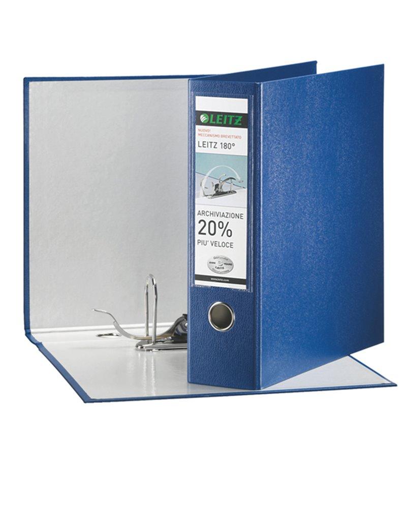 Registratore LEITZ 180° G65 blu dorso 8cm f.to protocollo LEITZ