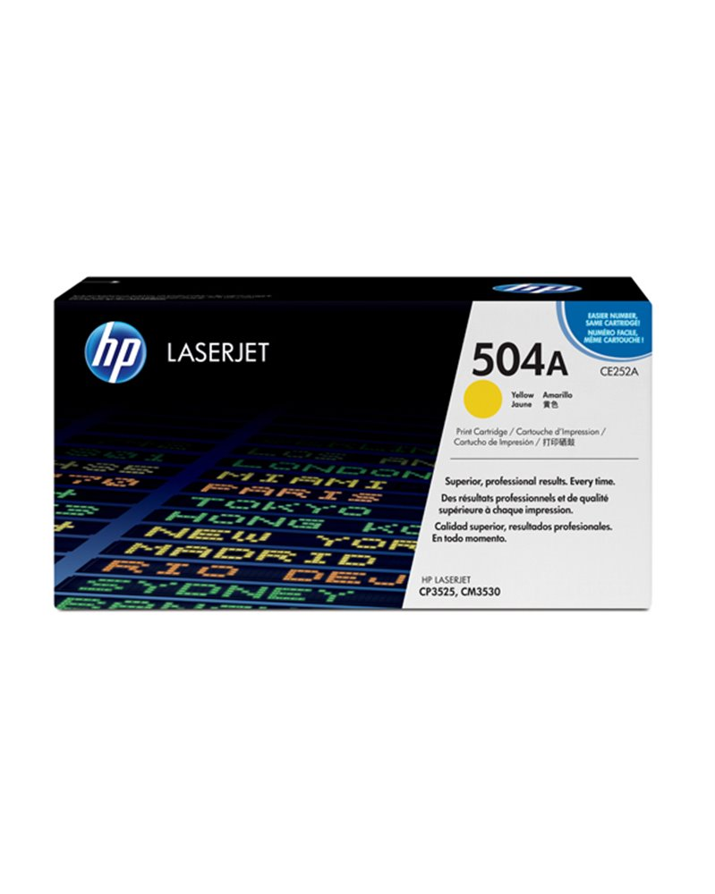 TONER GIALLO COLOR LASERJET CE252A YELLOW PRINT CARTRIDGE WITH COLORSPHERE