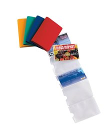 5 Porta Card10 color assortiti in pvc 10 tasche 5,8x8,7cm SEI ROTA