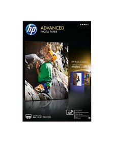 RISMA 100 FG CARTA HP ADVANCED GLOSSY PHOTO PAPER 250 G/M²-10 X 15 CM BORDERLESS