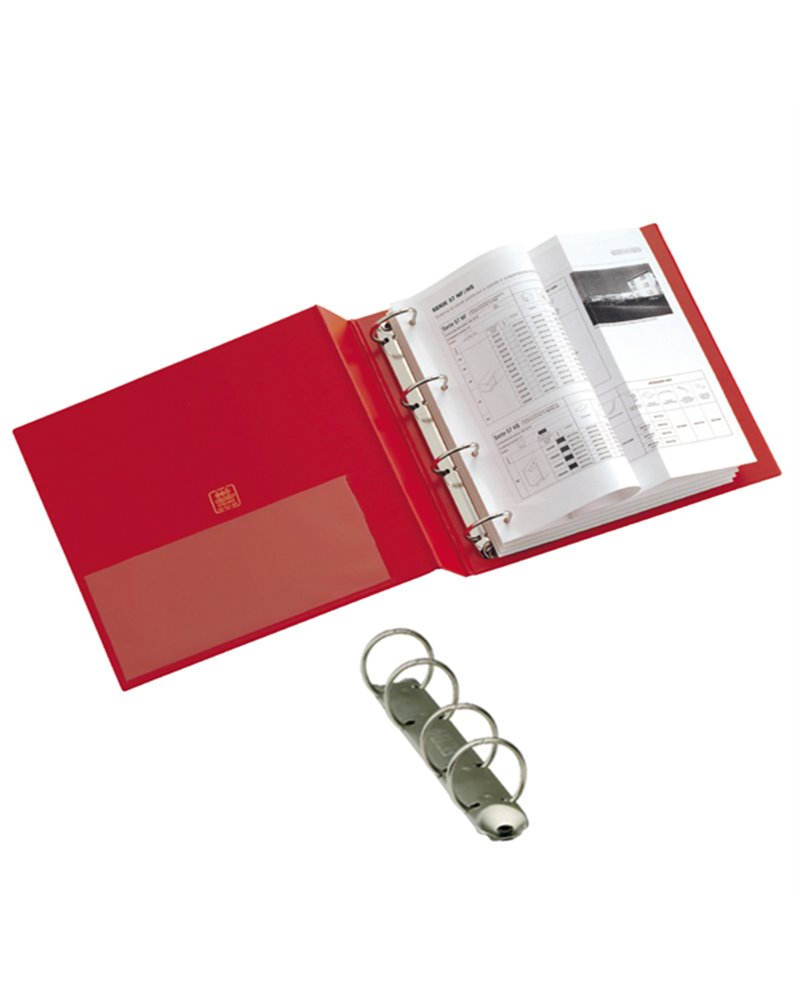 Raccoglitore STELVIO 16 A4 4R rosso 22x30cm SEI ROTA